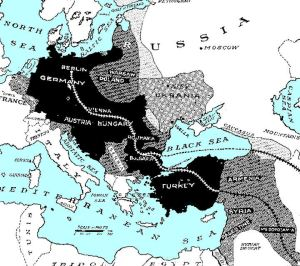 Old map of Berlin to Baghdad Railway
