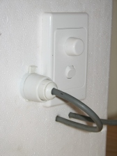 Dimmer and wiring arrangement