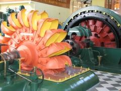 Pelton wheel and generator