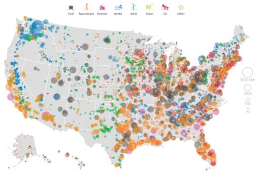 Power plant capacity united states
