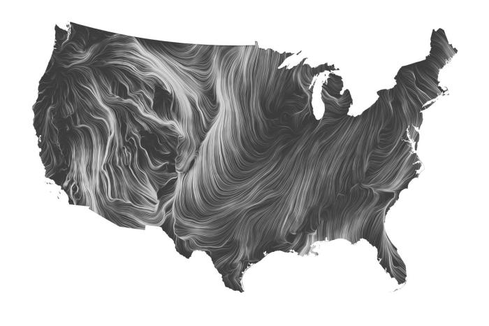 Wind map usa